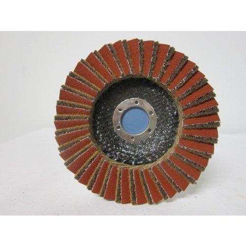 Sait Combi lamellenschijf 125 mm, grof, verpakt per 5 stuks. Art.6496