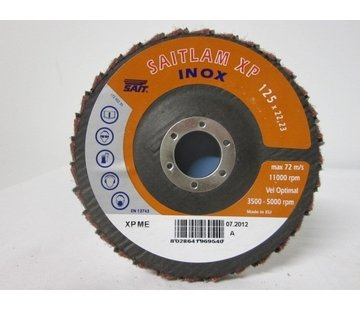 Sait Combi lamellenschijf 125 mm, medium verpakt per 5 stuks. Art.6495