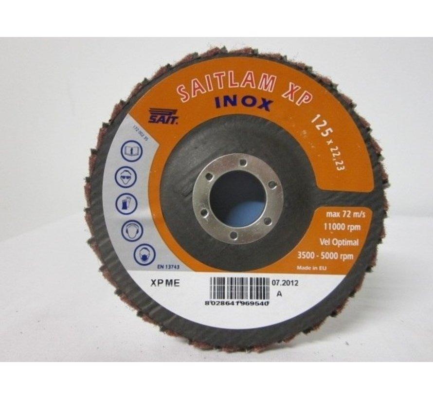 Combi lamellenschijf 125 mm, medium, verpakt per 5 stuks. Art.6495