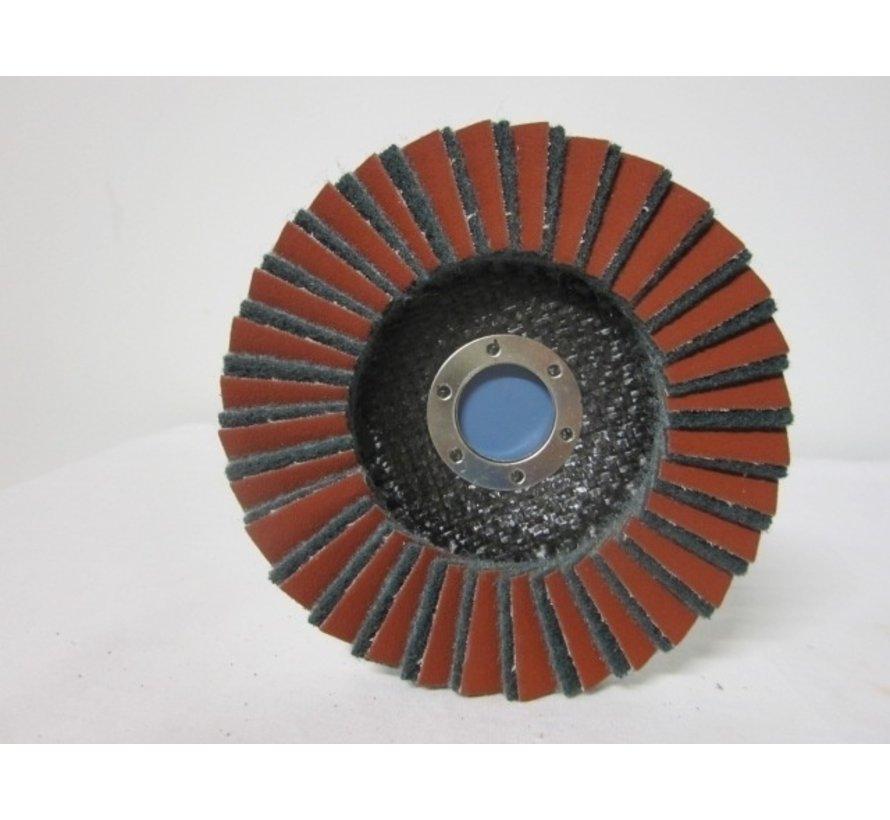 Combi lamellenschijf 125 mm, fijn, verpakt per 5 stuks. Art.6497