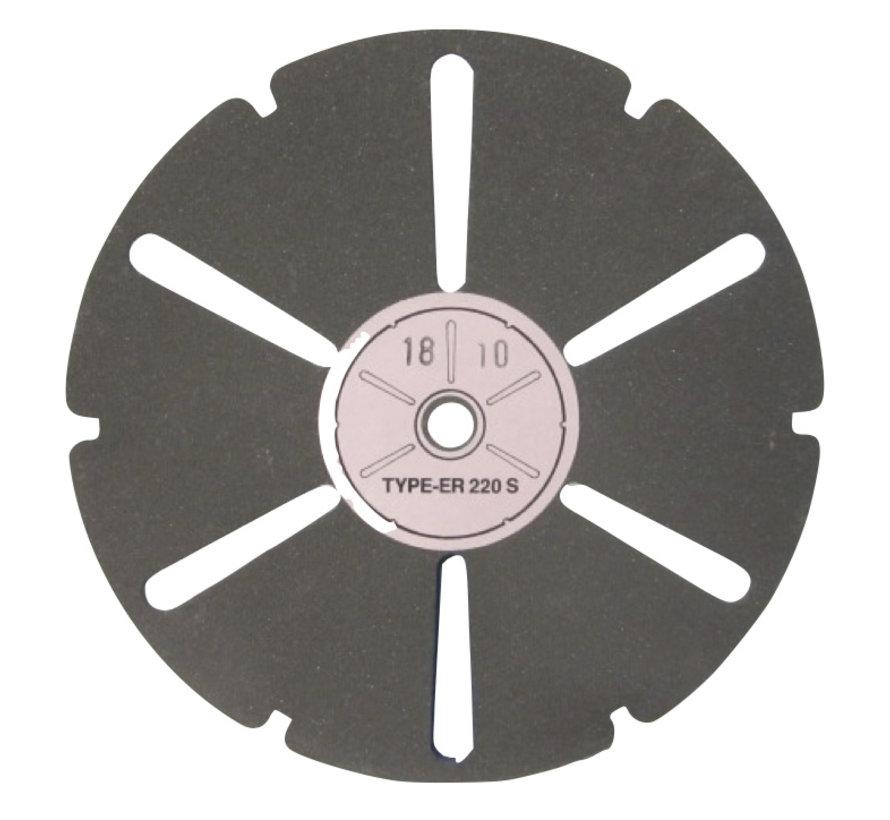 Transparant slijpschijf K220, art.2077