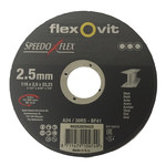 Flexovit Flexovit doorslijpschijf voor staal 115x2,5x22 mm (verpakkings eenheid 25 stuks)