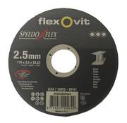 Flexovit Doorslijpschijf 115x2,5x22 mm. (verpakt per 25 stuks) Art.8646