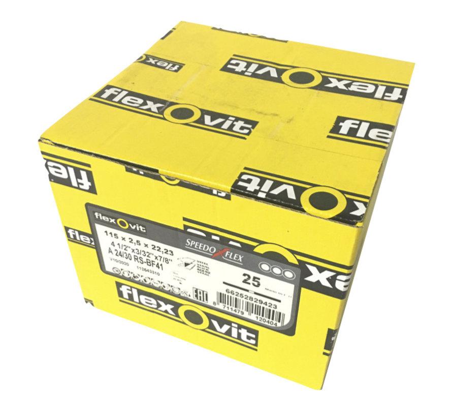 Flexovit doorslijpschijf voor staal 115x2,5x22 mm (verpakkings eenheid 25 stuks)