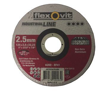 Flexovit Doorslijpschijf 125x2,5x22 mm (verpakt per 25 stuks) Art.2104551