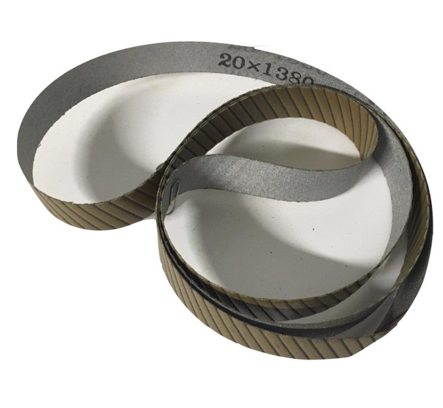 CBN Schuurband voor de Allrounder, voor het slijpen van harde schaatsen boven 63 Rc
