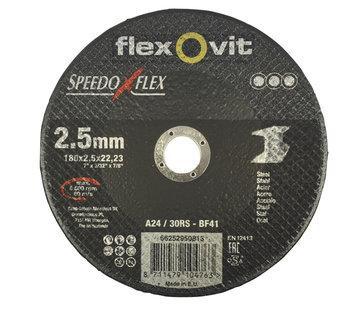 Flexovit Doorslijpschijf 180x2,5x22 mm (verpakt per 25 stuks) Art.2104563
