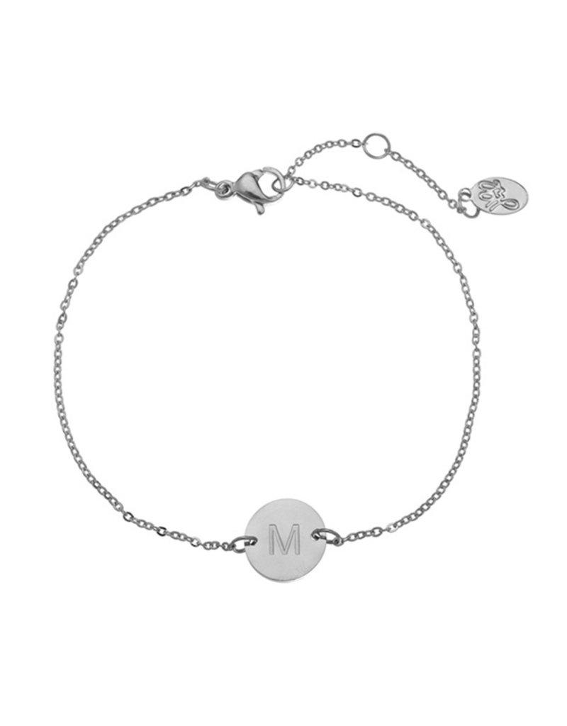 Initialen armband - Zilver