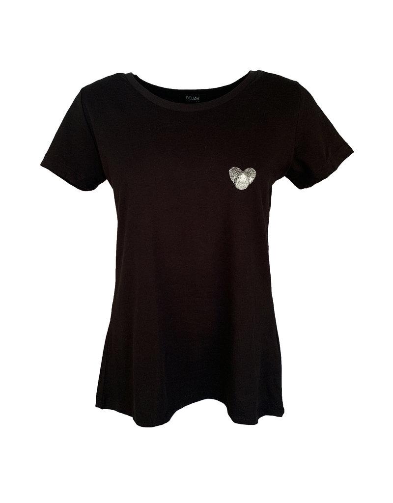 Shirt Heart - Zwart