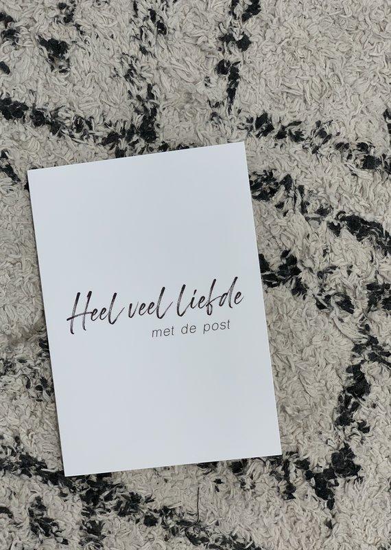Postcard - Heel veel liefde