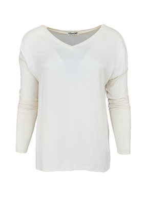 Transfer Basic v-Neck - Champagne