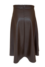 Transfer Faux Leather Skirt - Brown