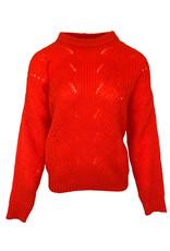Pull Nais Opengewerkt - Oranje/Rood
