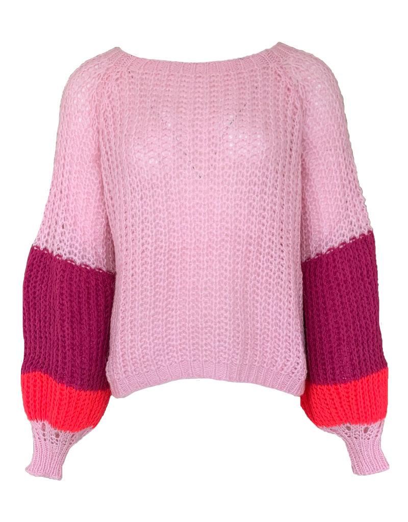 Pull Kleurig Mix - Roze