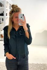 Roesel Blouse Stip - Zwart