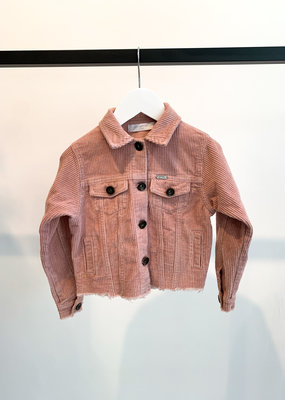 KIDS Blouse Rib - Roze