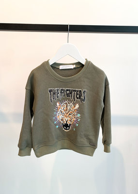 KIDS Cheetah Sweater - Groen