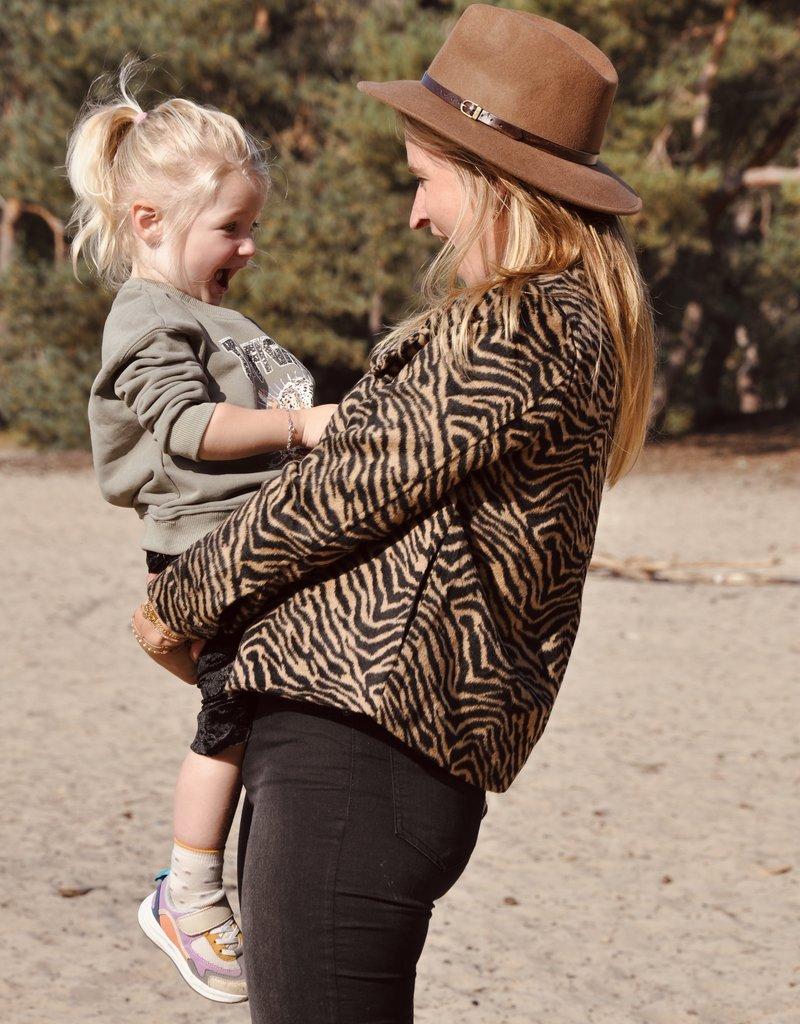 KIDS Cheetah Sweater - Groen