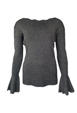 Sweater Schulprand Glitter - Zilver