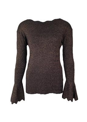 Sweater Schulprand Glitter - Bruin