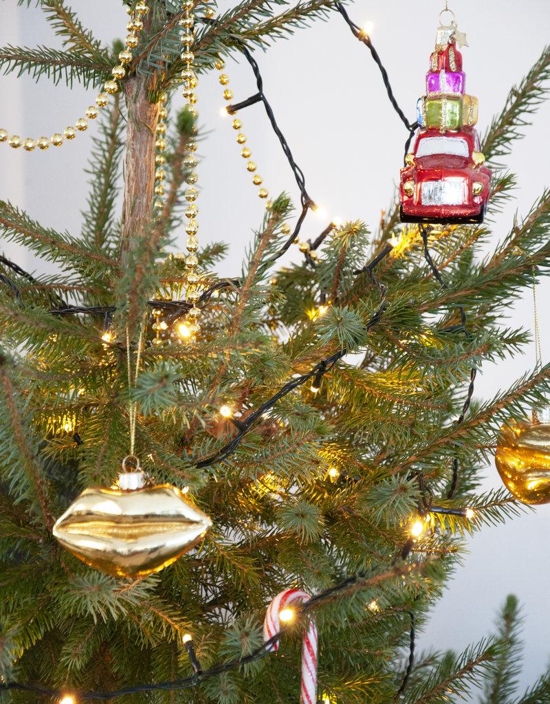 Ornament Glass Lips - Gold