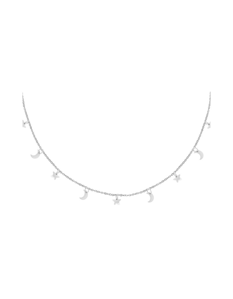 Necklace - Floating Night Zilver