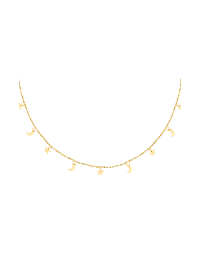 Necklace - Floating Night Goud
