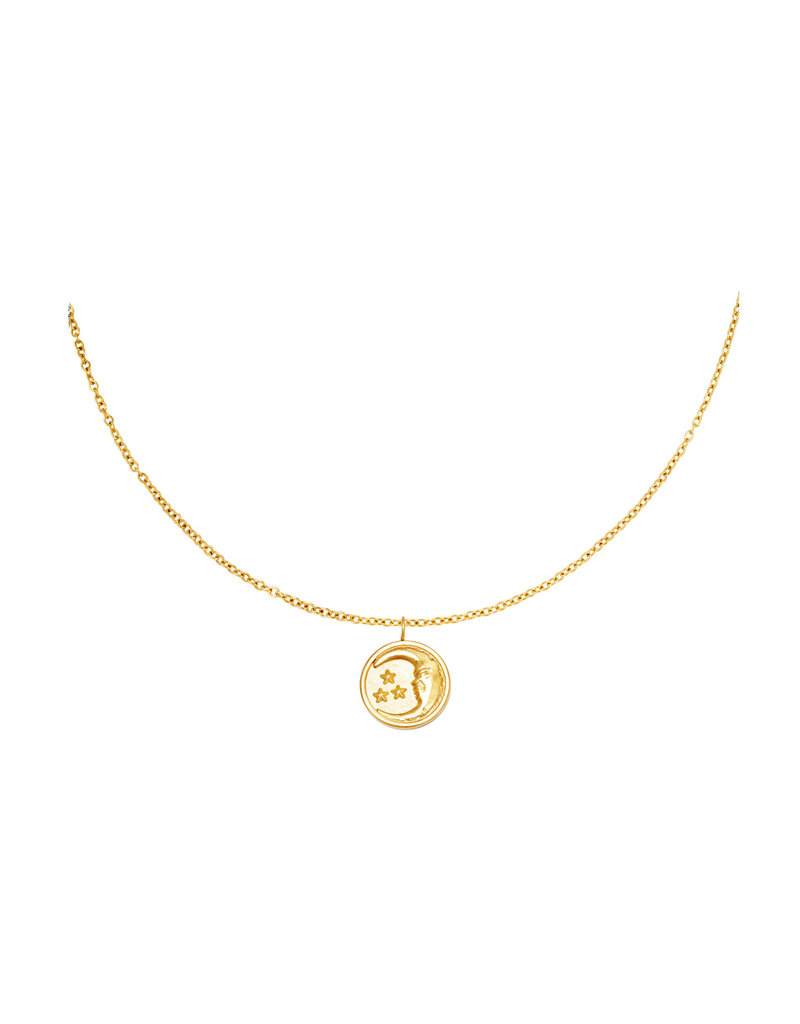 Necklace - Glowing Moon Goud