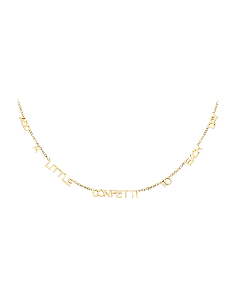 Necklace - Confetti Goud