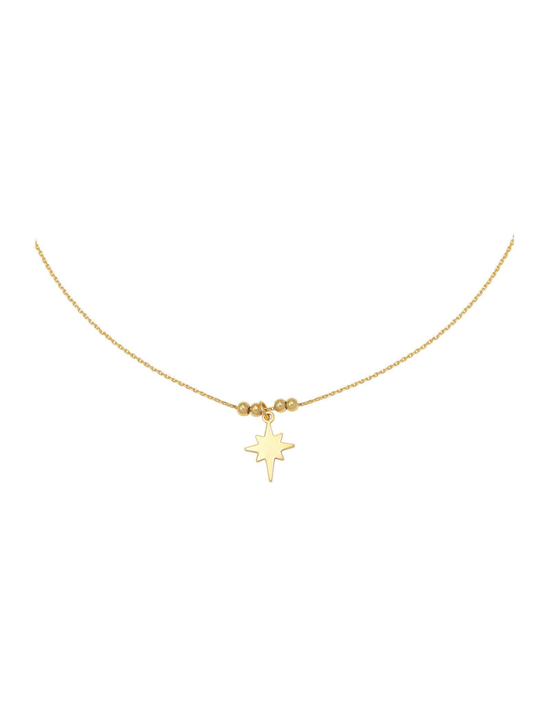 Necklace - Be my star Goud