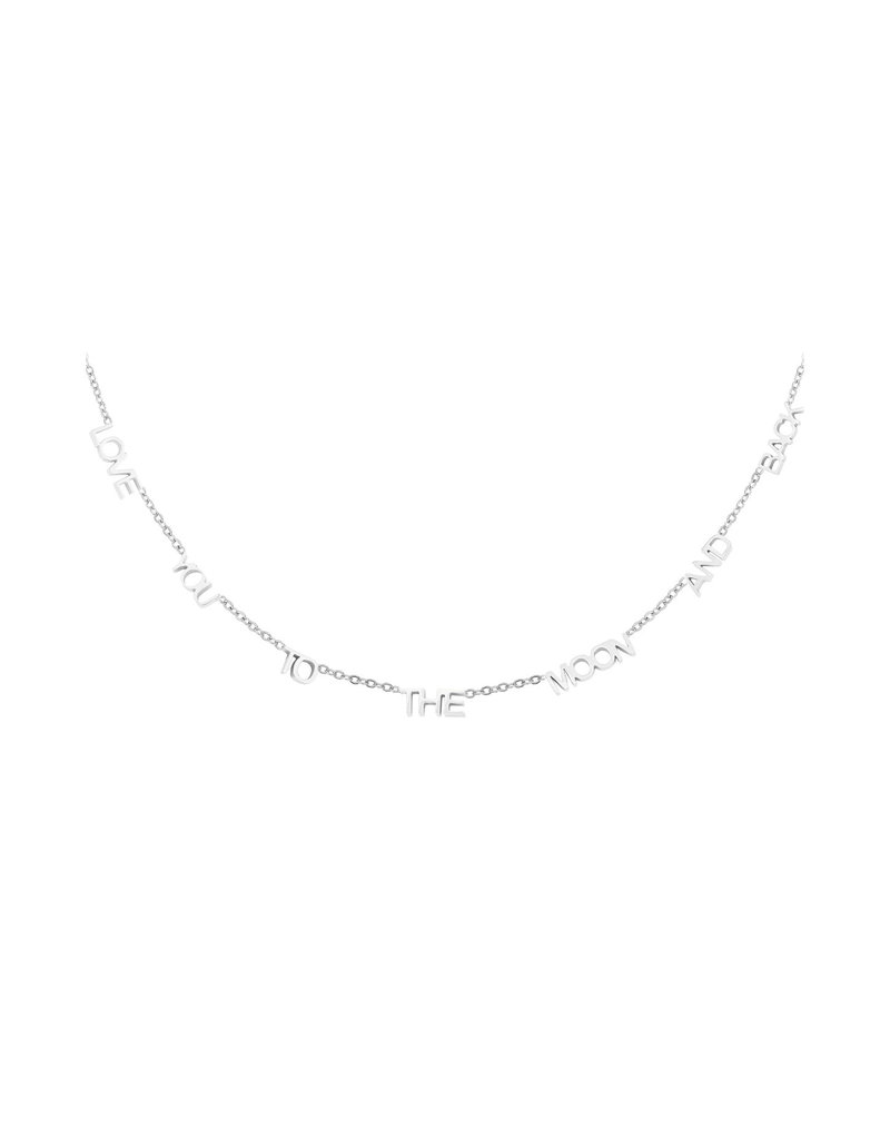 Necklace - Love you to the moon Zilver