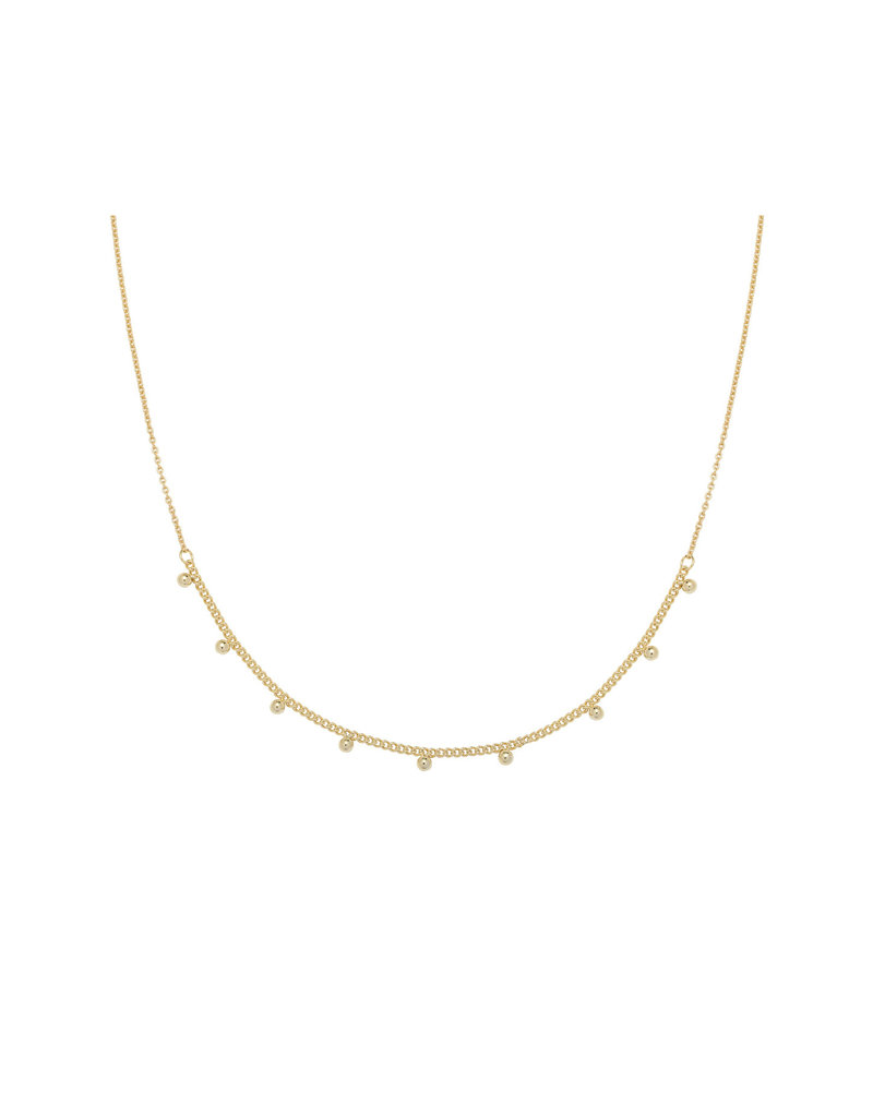 Necklace - Tiny Love Goud