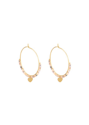 Earring - Falling Heart Multi