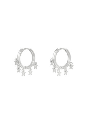 Earring - Floating Stars Zilver