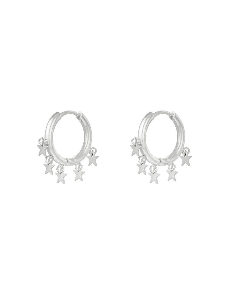 Earring - Floating Stars Zilver