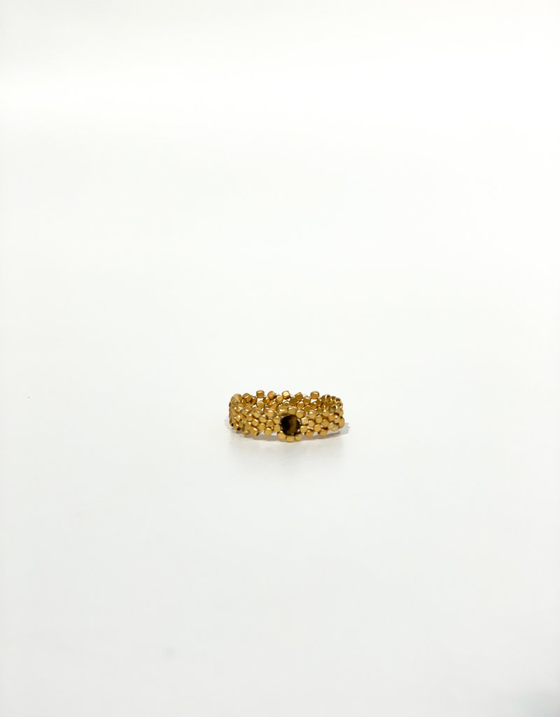 IBU JEWELS Ring - Gold Wave Bruin