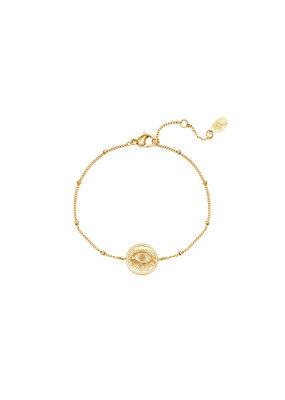 Bracelet - Magic Eye Goud