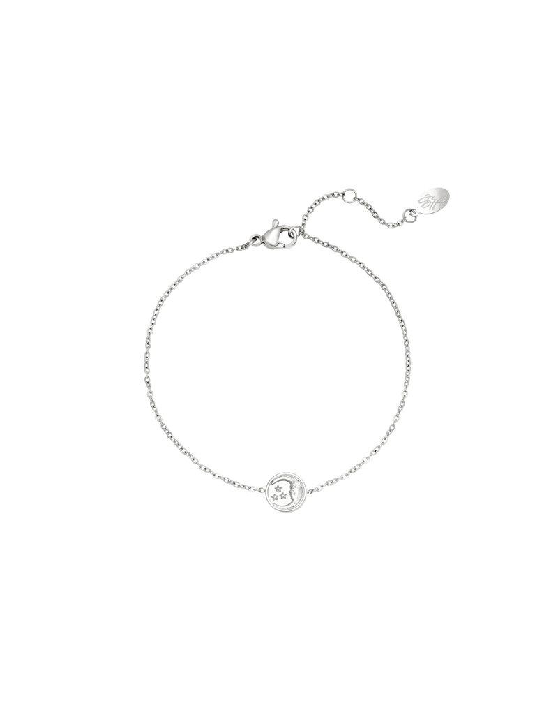 Bracelet - Glowing Moon Zilver