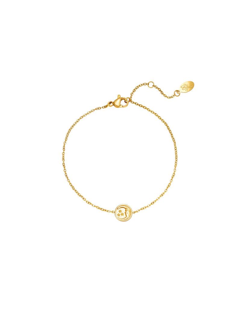 Bracelet - Glowing Moon Goud