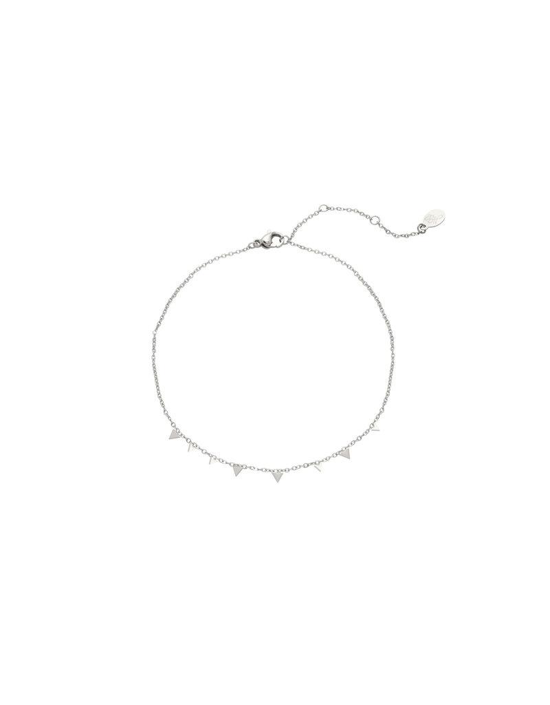 Bracelet - Confetti Triangle Zilver