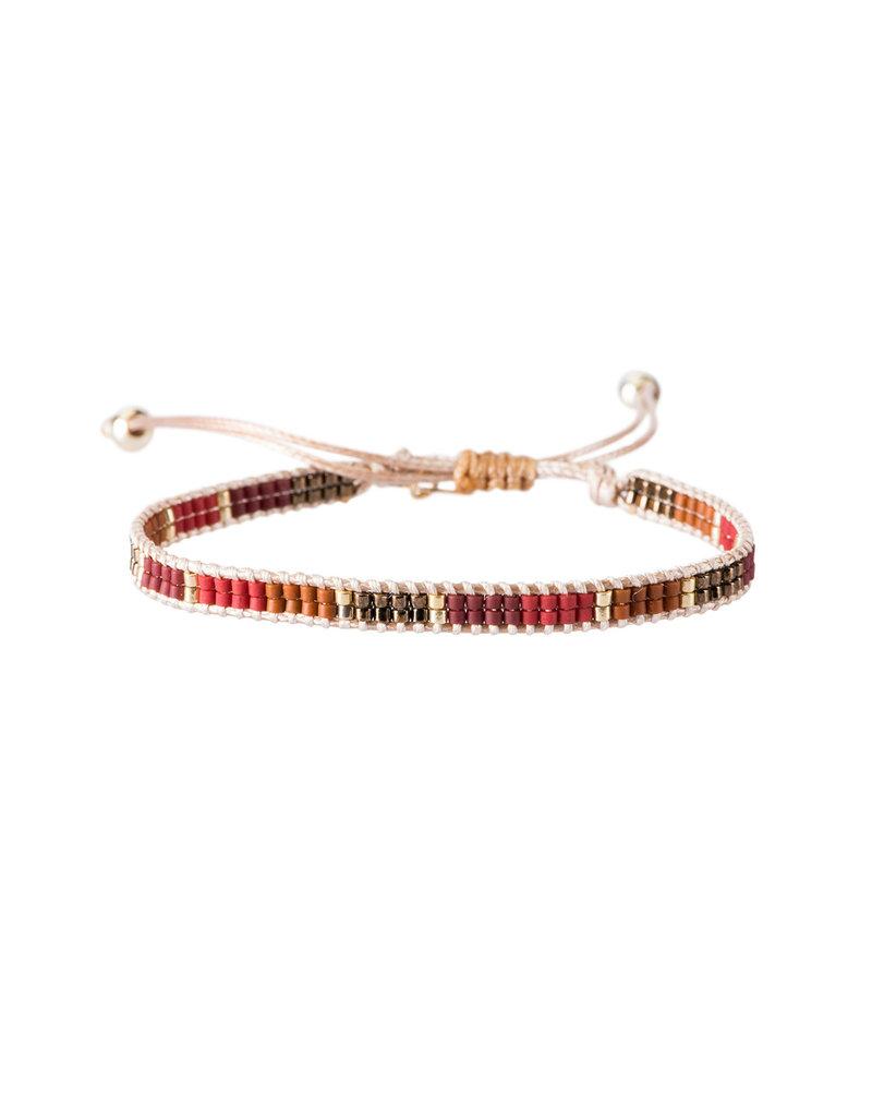 Bracelet Luno - Rood