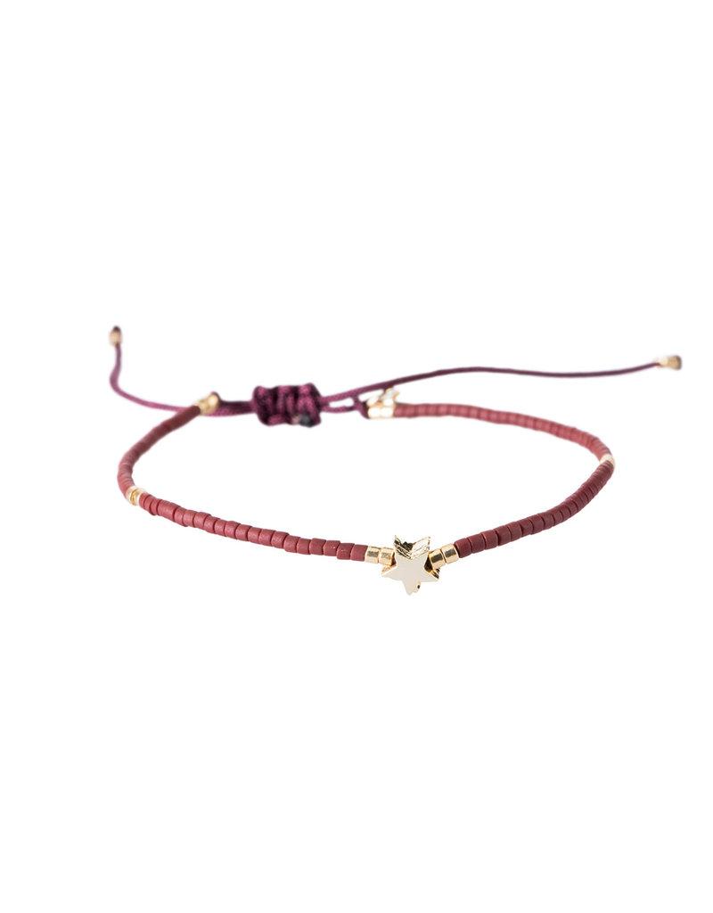 Bracelet Star - Rood