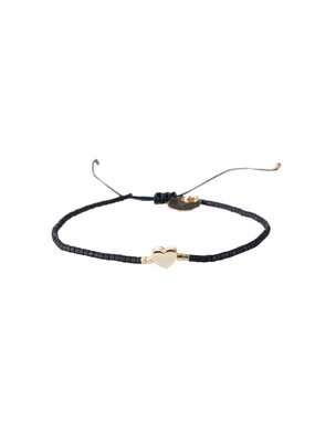 Bracelet Heart - Zwart