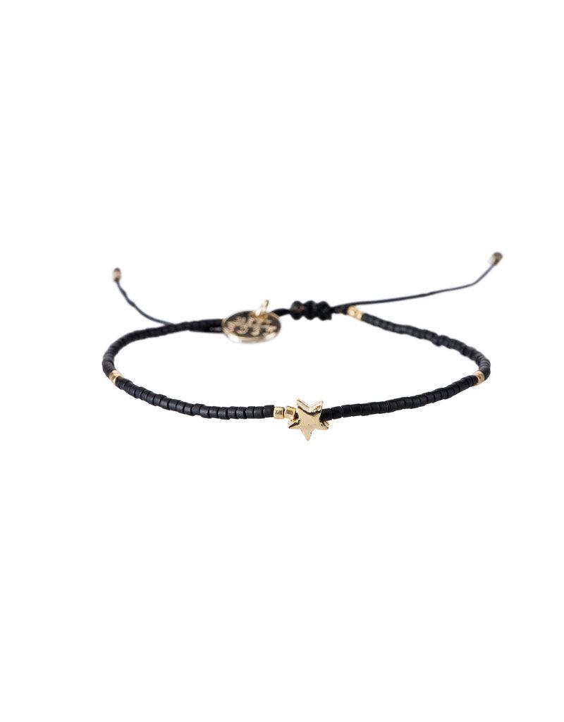 Bracelet Star - Zwart