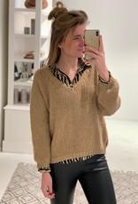 V-Neck Pullover - Camel