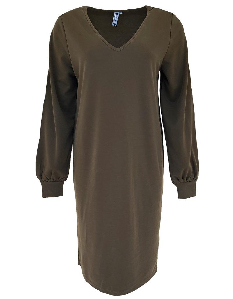 Desires Bini v-Neck Dress - Groen