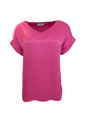 Transfer Short Sleeve Tee - Fuchsia