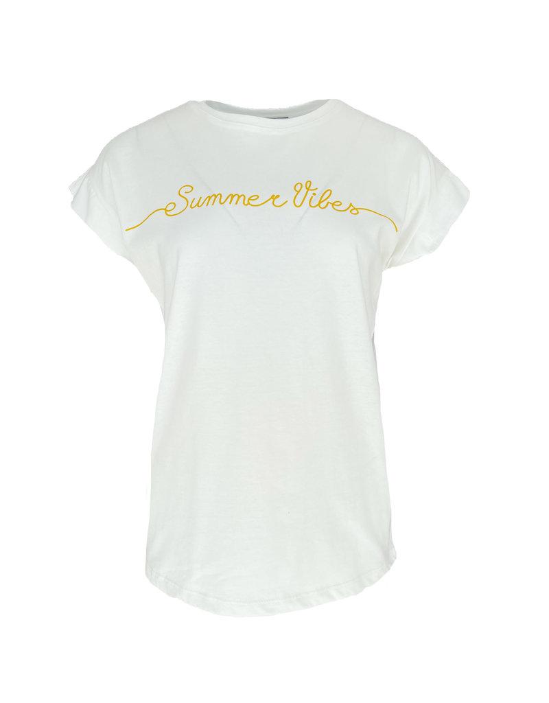 Shirt Summer Vibes - Geel