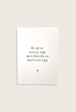Postcard - Chocola & Wijn