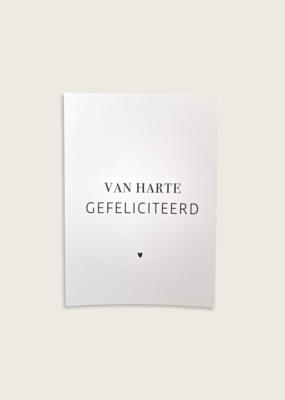 Postcard - Gefeliciteerd